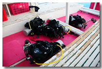 for scuba diving page equipment section